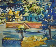 lawrenceleemagnuson:Horacio Alberto Butler (Argentina 1897-1983) Delta Landscape (n.d.)  oil on canvas