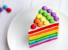 Beim nächsten Kindergeburtstag möchten Sie Jubelschreie am Kaffeetisch hören? Mit diesem Kuchen überhaupt kein Problem. Mit Schokolinsen und Lebensmittelfarbe wird der Leckerbissen zum wahren Augenschmaus. http://www.fuersie.de/kochen/backrezepte/artikel/rezept-regenbogenkuchen