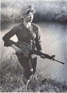 Female Viet Cong Warrior circa 1973 . via reddit http://ift.tt/1QUiN8M