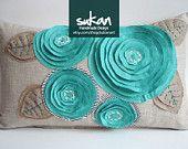 Blue flower pillow!
