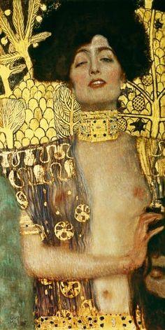 Titre de l'image : Gustav Klimt - Judith avec la tête d'Holopherne