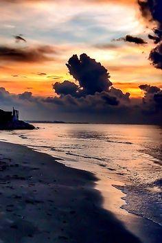 Sonata For A Dream by Nedim  Chaâbene on 500px..... #Beach #Sunrise #Sun #Seascape #Sea #Clouds #Waves #Sand #Dark #Tunisia #Horizon #Glow #Northafrica