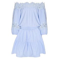 Light Blue Lace Splice Off The Shoulder Dress LIGHT BLUE: Dresses 2016... ($19) ❤ liked on Polyvore featuring dresses, off shoulder dress, lace dress, light blue lace dress, off the shoulder dress and blue dress
