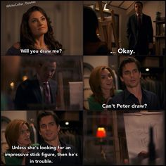 I love Neal and Sara. picture credit White collar quotes