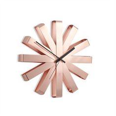 Umbra® Ribbon Wall Clock - Copper