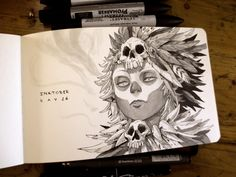 Well, all is the title. All the sketches/drawings/inkings of the inktober 2015 !  You can preorder the inktober sketchbook until 30th november here: http://www.xaviercollette.com/shop/fr/home/31-inktober-2015-sketchbook-vol2--9782954938110.html