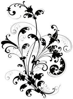 decorative scrolls   Decorative Floral Scroll Royalty Free Stock Vector Art Illustration