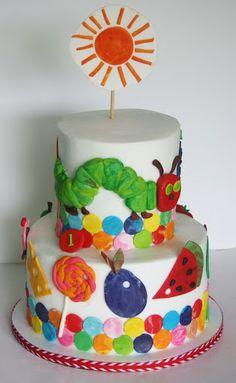 Very Hungry Caterpillar Birthday Cake Hungry Caterpillar Cake, Boy Birthday Parties, Birthday Ideas, Birthday Cakes, Themed Cakes, Cake Smash, Cupcake Cakes, Cupcakes, Eat Cake