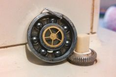 Steampunk Up-cycled Roller Derby Skate Bearing Pendant (g)