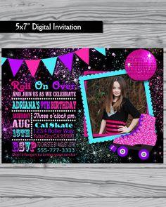 Roller Skating Invitation / Roller Skate party by LoveLeeDesigns1