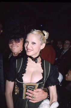 """Billy Idol and Madonna at the SEX book's release party, 1992 """