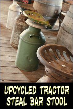 How about furnishing your home with these cool tractor seat bar stools?