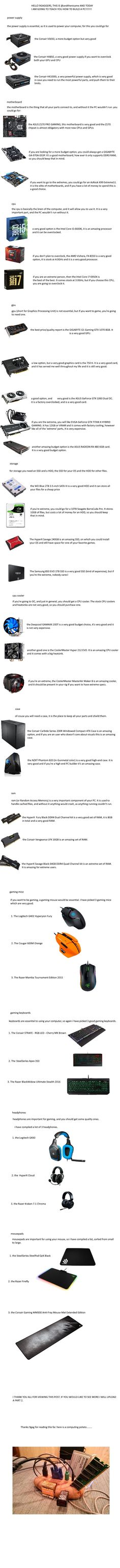 PC Building guide! OC - 9GAG