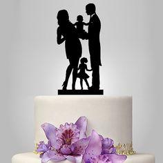 So cute!  Funny wedding cake topper family wedding cake door walldecal76
