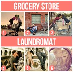 Grocery store/ Laundromat couple ideas