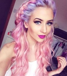 If you really want to stand out, you can always mix two or more pastel shades #fairskin #haircolor #hairfashion #pastelhair
