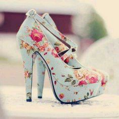 Just purchased these adorable blue heels with pink floral designs.... and believe it or not they are surprisingly some of my comfiest shoes of 2012 !