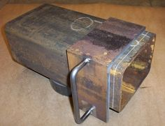 90-Degree Marker by aevald -- Homemade 90-degree marker cut from a section of rectangular steel tubing and and utilizing a welded handle for ease of use. http://www.homemadetools.net/homemade-90-degree-marker-2