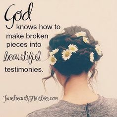 Credit: Give your 'broken' pieces to God today. Christian Faith, Christian Quotes, Bible Quotes, Bible Verses, Bible Art, Scriptures, Qoutes, Make Beauty, Beauty Tips