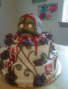 Zombie belly cake for zombie baby shower Cakes Pinterest