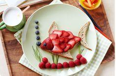 Strawberry & Almond Butter Tropical Fish Sandwich