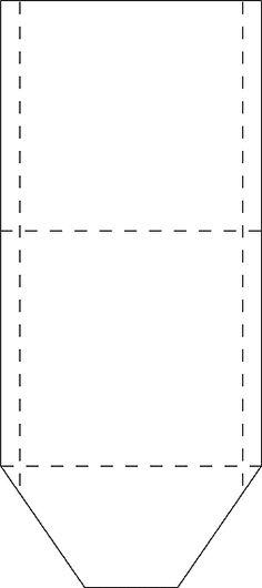 Blank printable tea bag envelope