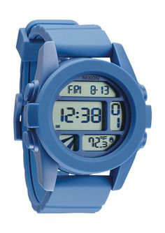 The Unit. When you hit the park, you'll need a watch that's got the same flash and style that you do - and the tricks to back it up. The Unit comes in a range of fresh custom polycarbonate color ways and a custom digital interface with dual time, timer, chrono, alarm and light. It's also got a temperature gauge, so no matter how thick the powder, you'll always know who's hot.