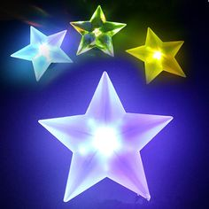 5pcs Pentagram star shape led wall lamp Colorful acrylic night light with Sucker christmas birthday party supplies home decor #Affiliate