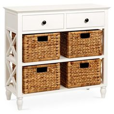 Check out this item at One Kings Lane! Linea Basket Storage Buffet, White