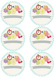 FREE printable fruit jam jar and can labels
