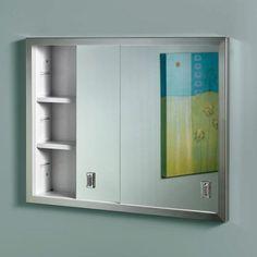 Have to have it. Broan-Nutone Contempra 24W x 19H in. Recessed Medicine Cabinet B703850 - $124.98 @hayneedle.com