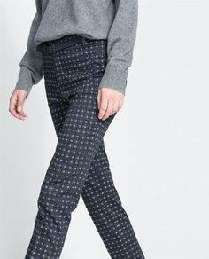 Image 4 of TIE PRINT TROUSERS from Zara