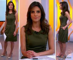 A melhor imagem da moda da TV: Look da Monalisa Perrone no Hora 1 dia 12 de dezem...