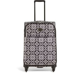 """Vera Bradley 27"""" Spinner Rolling Luggage in Concerto ($340) ❤ liked on Polyvore featuring bags, luggage and concerto"""