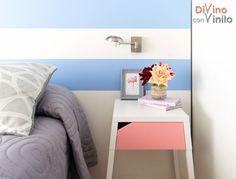 decorar con rosa cuarzo y azul serenity Floating Nightstand, Table, Diy, Furniture, Home Decor, Pink, Decorating Bedrooms, Bedding, Blue Nails