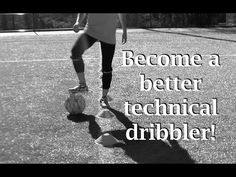 Beginner/intermediate soccer dribbling routine designed to improve touch & control of the ball in tight spaces.