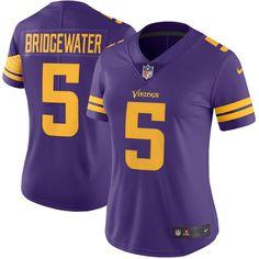 971d9fadd Teddy Bridgewater Minnesota Vikings Nike Women s Color Rush Limited Jersey  - Purple