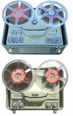 reel to reel.  I actually still have some of these reel to reel audio recordings from middle and high school!