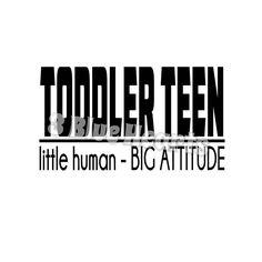 Toddler Teen svg studio dxf pdf jpg png by 3BlueHeartsDesign on Etsy