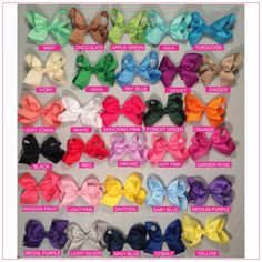 4 inch Solid Color Hair Bow Bundle Simply Sweet | Bargain Bows boutique hair bows at bargain prices