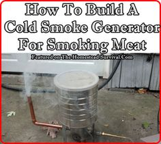 How To Build A Cold Smoke Generator For Smoking Meat Homesteading  - The Homestead Survival .Com