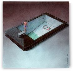low battery by Pawel Kuczynski Satire, Pictures With Deep Meaning, Social Media Art, Satirical Illustrations, Visual Metaphor, Protest Art, Political Art, Realism Art, Canvas Artwork