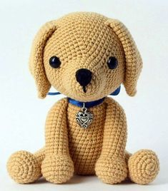 Free Lucky Puppy Pattern This cute lucky puppy amigurumi is just 15 cm tall. It's a perfect gift for dog lovers. The difficulty range of the Lucky Puppy Amigurumi Pattern is medium. Baby Knitting Patterns, Crochet Animal Patterns, Stuffed Animal Patterns, Crochet Animals, Stuffed Animals, Amigurumi Free, Crochet Patterns Amigurumi, Amigurumi Doll, Crochet Dolls