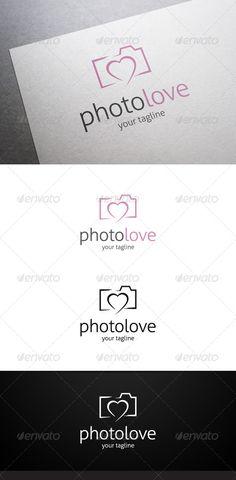 Photo Love   Logo Template #love #camera • Download ➝ https://graphicriver.net/item/photo-love-logo/7643712?ref=pxcr