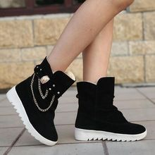 2015 New Arrival Hot Sale Women Boots Solid Slip-On Soft Cute Women Snow Boots Round Toe Flat with Winter Shoes A558(China (Mainland))