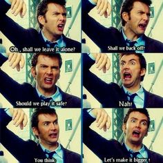 His facial expressions account for about 90% of the hilarity of this scene. Oh, ten…
