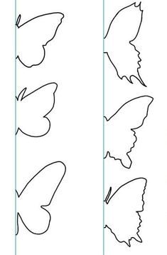 Printable Butterfly Template  Coloring Pages