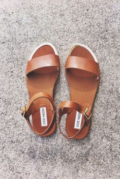 leather strap sandal ღ