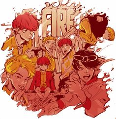 FIRE ART. CONGRATS BOIS FOR FIRE 1$T WIN ❤ NOW CAN WE GET A FIREALLKILL ARMY? #BTS #방탄소년단