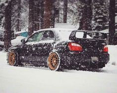 Subaru Impreza playing in the snow #RallyMonster